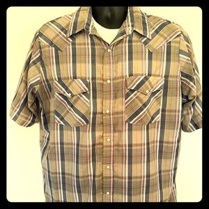 Western Frontier brand s/s Snap button shirt